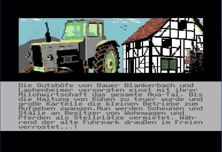 DAS CAMP: Screenshot aus dem Spiel (Traktor)
